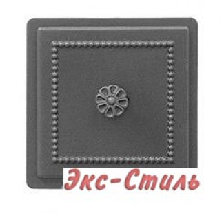 Дверца прочистная Везувий 235 130х130мм (антрацит)