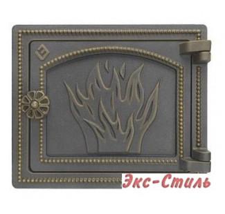 Дверка печная Везувий ДТ-3 (бронза)