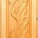 Дверь кавказская липа с петлями Дерево