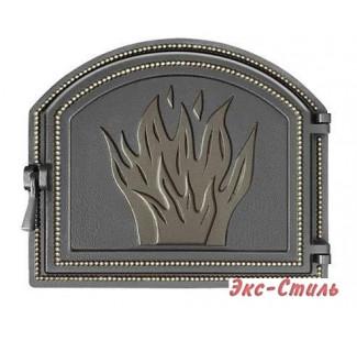Дверь каминная Везувий 218 (бронза)