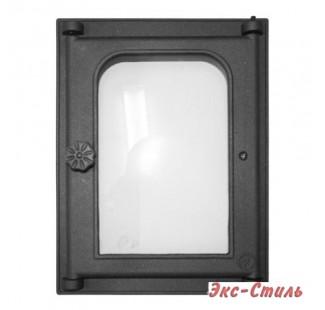 K303 Дверца топочная стекло 250х350мм 10,3кг