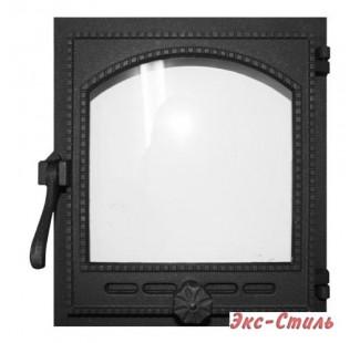K404 Дверца топочная стекло 290х325мм 9,2кг