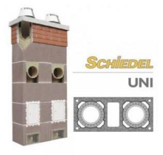 Керамический дымоход Schiedel UNI двухходовой с вент. каналом