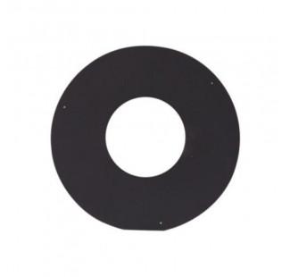 Накладка декоративная (круглая) чёрная сталь 0,7 мм, Ø 200/500 мм