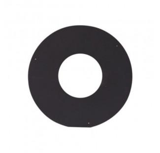 Накладка декоративная (круглая) чёрная сталь 0,7 мм, Ø 230/530 мм