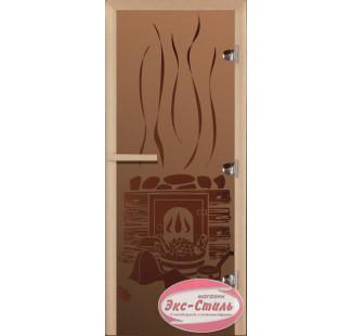 СИЛА АЛТАЯ БАНЬКА дверь стекло бронза матовая 70х190см (лиственная)