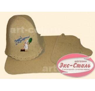 Набор из 3-х предметов (шапка, коврик, рукавица)