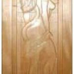 Дверь кавказская липа с петлями Панно Женщина