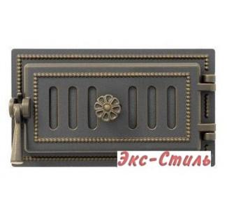 Дверца поддувальная Везувий 236 140х275мм (бронза)