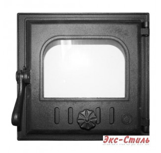 K401 Дверца топочная стекло 250х240мм 6,3кг
