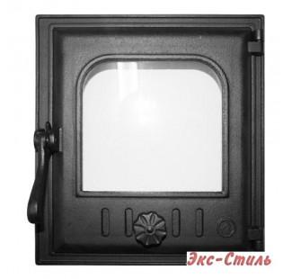 K402 Дверца топочная стекло 240х280мм 7,5кг