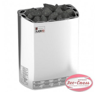 Электрическая печь  Sawo Mini X MX-30NS-Z настенная, без пульта, без блока мощности, 3,0 кВт, оцинк. сталь / нерж. cталь