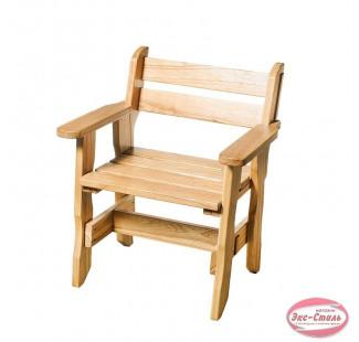 Кресло Богатырь дуб лакированный