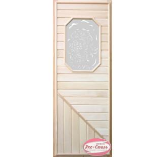 DOORWOOD Дверь липа со стеклом без петель арт.(DW00008) DW00008