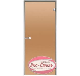 Дверь HARVIA ALU 8х19 бронза DA81901