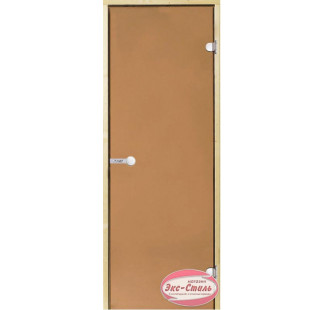 Дверь HARVIA SТG 7х19 ольха/бронза D71901L