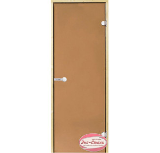 Дверь HARVIA SТG 8х19 сосна/бронза D81901M