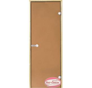Дверь HARVIA SТG 9х19 сосна/бронза D91901M