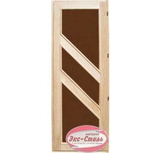 Дверь липа со стеклом с петлями ДСН